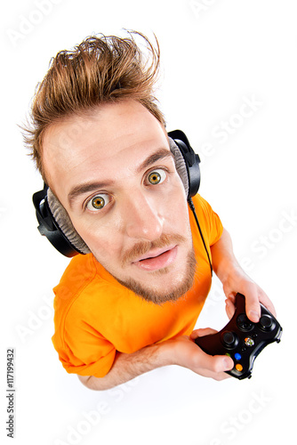 Poster gamer with controller