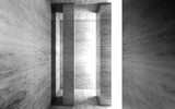 Abstract empty white concrete interior with columns