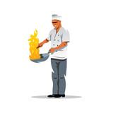 Vector Chef Cartoon Illustration.