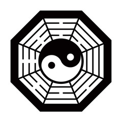 yin yang vector black and white