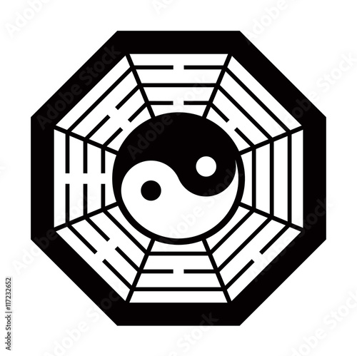 yin yang vector black and white
