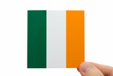 アイルランドの国旗イメージ 白背景