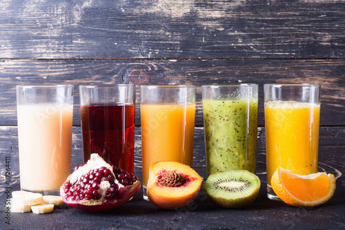 Staande foto Sap Fruit juice collection