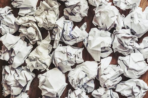 Poster crumpled paper balls