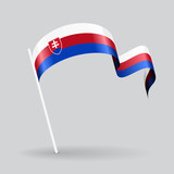 Slovak wavy flag. Vector illustration.
