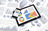 タブレット、スマートフォンとビジネス資料
