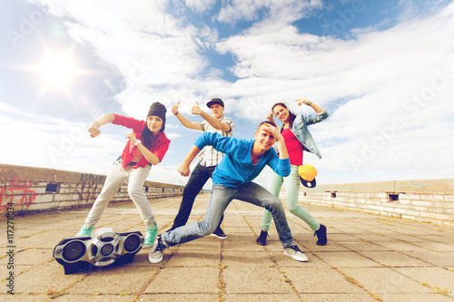 group of teenagers dancing Poster