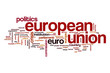 European union word cloud concept