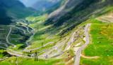 Transfagarasan scenic road in Transylvania, Romania. Fagaras Mou