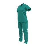 Female Surgeon Dress isolatedd on white 3D Illustration