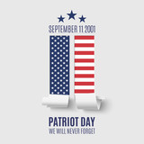 Fototapety Abstract Patriot Day background.
