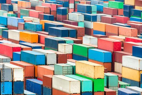 Fotobehang Antwerpen Containerterminal