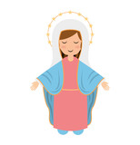 virgin mary cute icon - 117317440