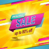 Modern bargain sale poster