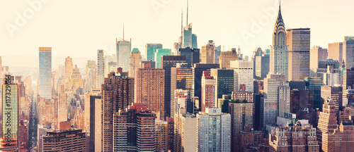 Aerial view of the New York City skyline - 117329644