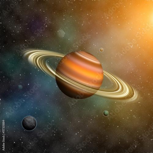 Fotobehang Nasa Saturn planets. Elements of this image furnished by NASA.