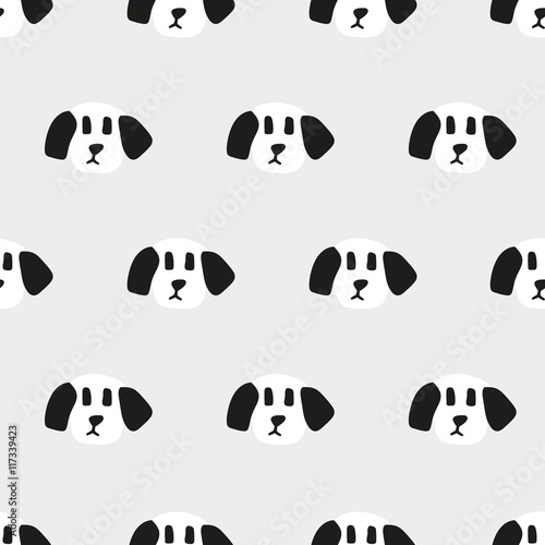 seamless dog pattern - 117339423
