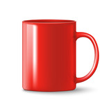 photorealistic red cup - 117348496
