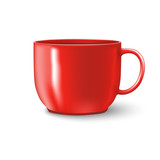 photorealistic red cup - 117348640