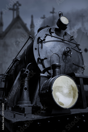 obraz PCV Old steam locomotive
