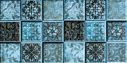 Fototapeta tiles with colored mosaics, mosaic pattern
