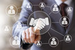 Business handshake online network