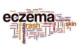 Eczema word cloud concept