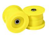polyurethane drift tuning car parts yellow set two bushing engine mount pair
