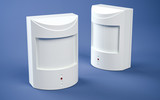 Motion detectors - blue background - 117401270