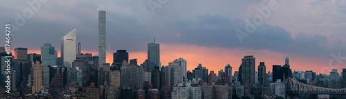 Foto op Aluminium New York Manhattan at sunset, panoramic image