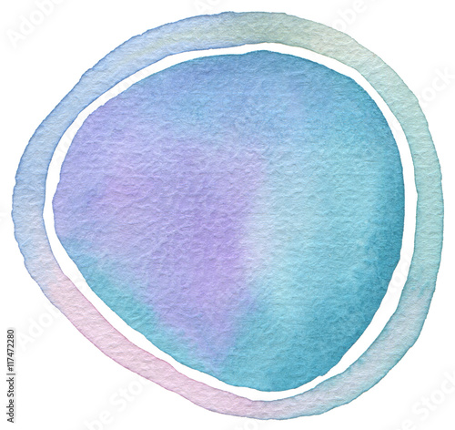 Aluminium Geschilderde Achtergrond Circle watercolor painted background.
