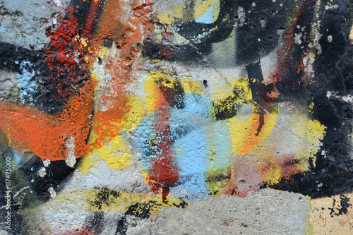 Background messy colorful artistic weathered graffity wall
