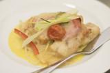 Zander with risotto