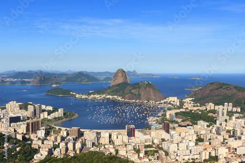 Sugarloaf mountain, Guanabara bay, Botafogo beach, Rio de Janeiro, Brazil