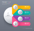 Infographic template design with 4 choice. Circle infographic co