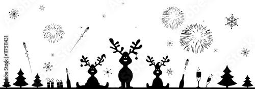 Weihnachten und Feuerwerk