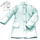 Blue medical gown nobody, vector medicine icon