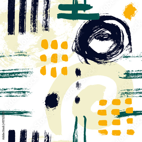 Vector seamless pattern brush strokes. © Olga Berlet