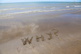 why written on the sand