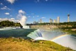 Niagara Falls Landscape and Rainbow
