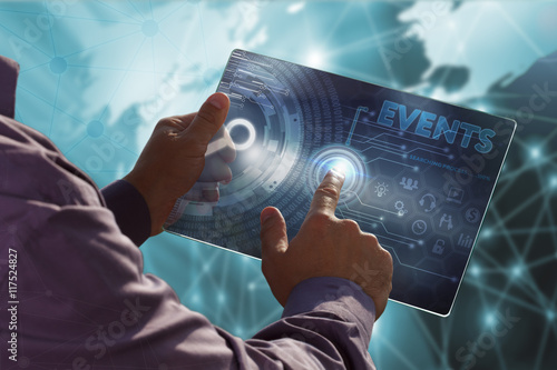 Poster Business, Technology, Internet and network concept .