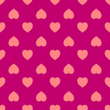 Abstract geometric seamless pattern made of hearts.