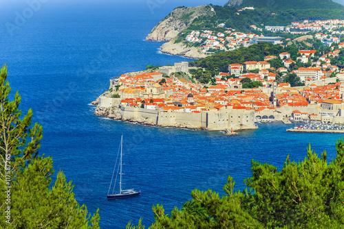 Fotobehang Vestingwerk Old Town of Dubrovnik, Adriatic Sea, Dalmatia region, Croatia, E