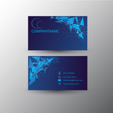 Business card, vector design