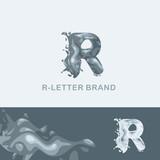 Креативный логотип для компании: жидкая буква R