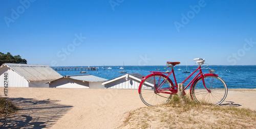 Foto op Canvas Fiets Vélo sur la côte de Noirmoutier