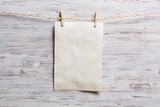 Paper hang on clothesline - 117641210
