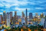 Bangkok city skyscrapers and Bangkok skyline at night in Bangkok