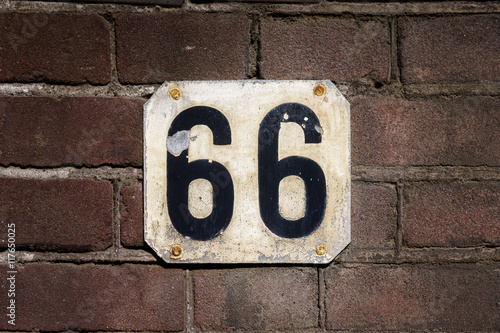 Number 66 Poster