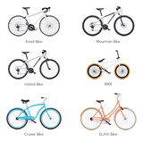 Fototapety Vector bicycles set
